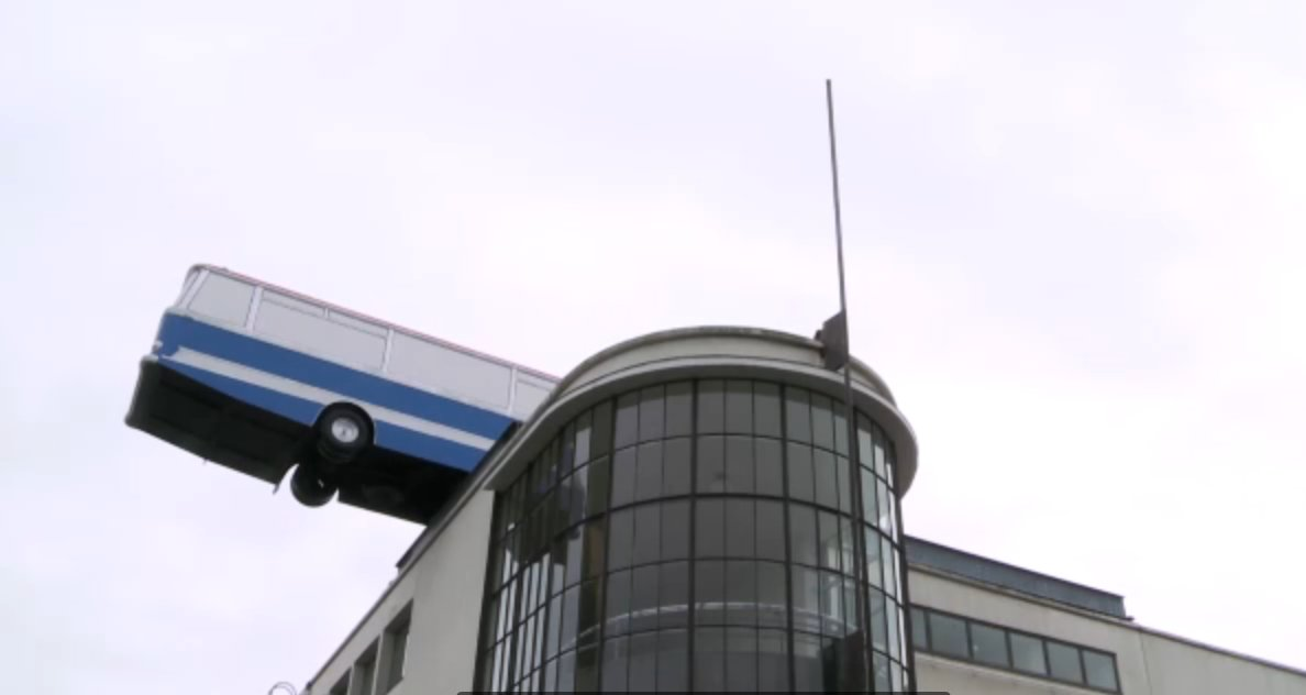bus on De La Warr Pavilion